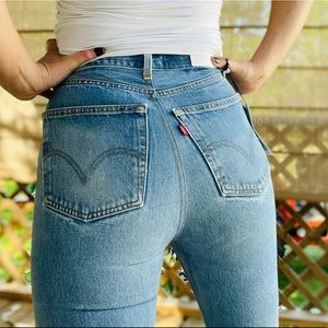 Re/done Levi 501 Skinny Light Wash Jeans Sz 28